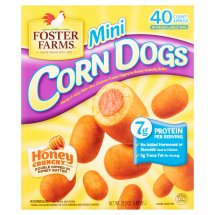 Foster Farms Honey Crunchy Flavor Mini Corn Dogs, 40 count, 29.3 oz
