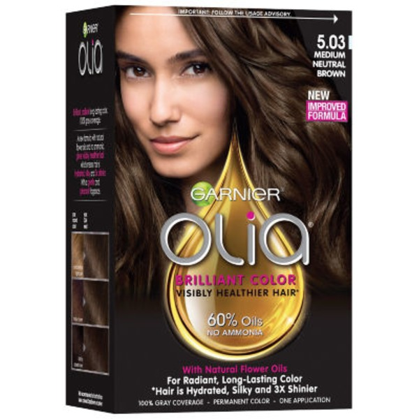 Olia™ 5.03 Medium Neutral Brown Oil Powered Permanent Color