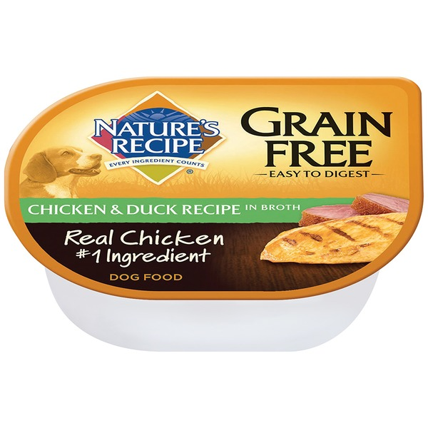 Nature's Recipe Grain Free Easy to Digest Chicken & Duck Recipe in Broth Dog Food