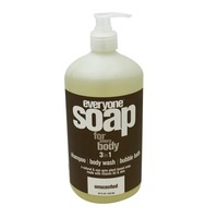 Everyone Soap For Every Body Unscented 3 in 1 Shampoo and Body Wash