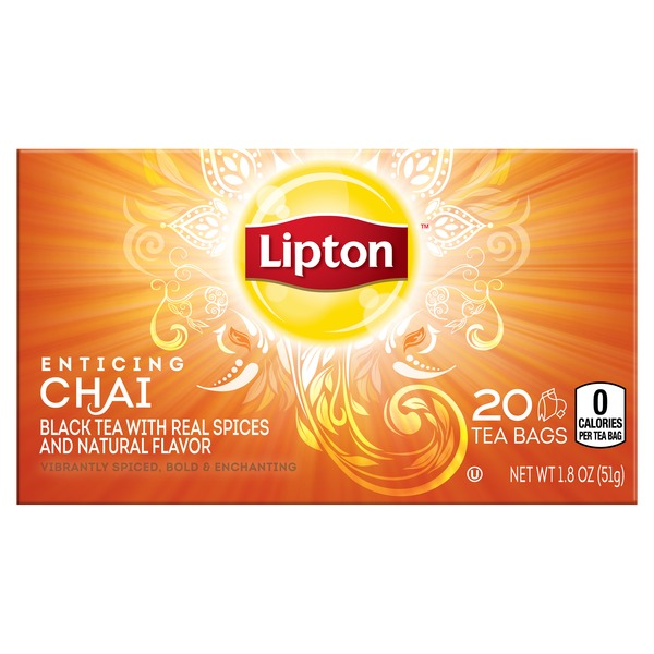 Lipton Enticing Chai Black Tea Bags