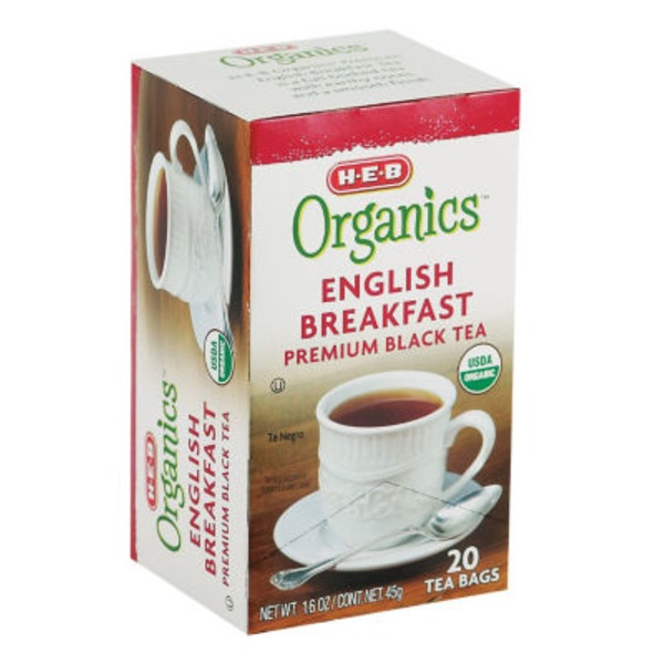 H-E-B Organics English Breakfast Tea