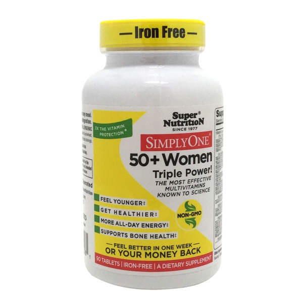 Super Nutrition Simply One 50+ Women Triple Power Multivitamins