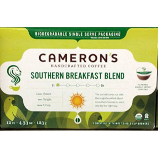 Cameron's Coffee Southern Breakfast Blend Single Serve Coffee