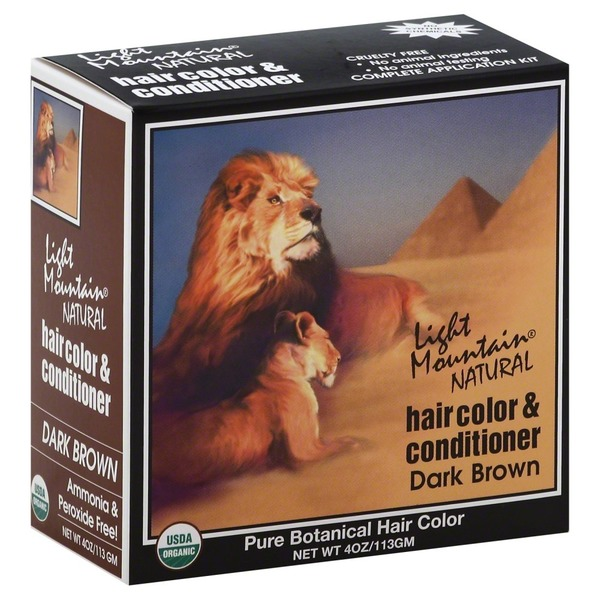 Light Mountain Hair Color & Conditioner, Dark Brown