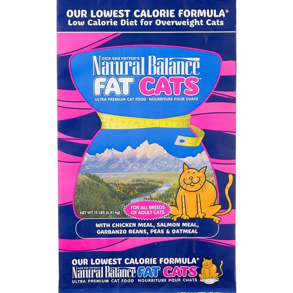Natural Balance Fat Cats Adult Cat Food 15 Lbs.