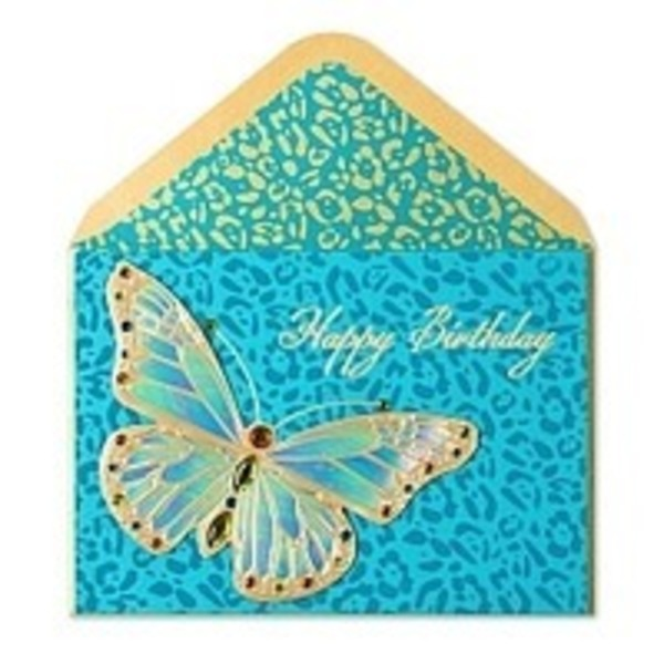 Papyrus Animal Print Butterfly Card