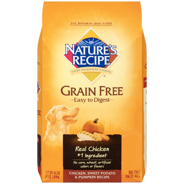 Nature's Recipe Grain Free Easy to Digest Chicken Sweet Potato & Pumpkin Recipe Dog Food
