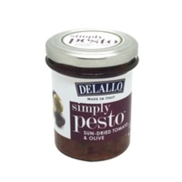 DeLallo Simply Pesto, Sun-Dried Tomato & Olive