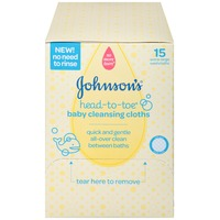 Johnson's® head-to-toe® Cleansing Cloths Baby Wash