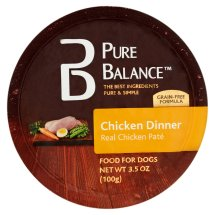 Pure Balance Canned Chicken Dinner Wet Dog Food, 3.5 Oz