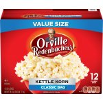 Orville Redenbacher's Kettle Corn Microwave Popcorn, Classic Bag, 12 Ct