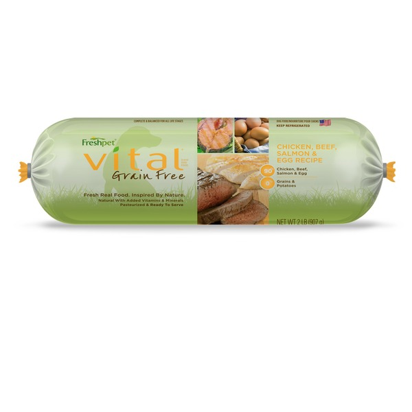 Freshpet Vital Chicken, Beef, Salmon & Egg Recipe Grain Free Fresh Dog Food Roll