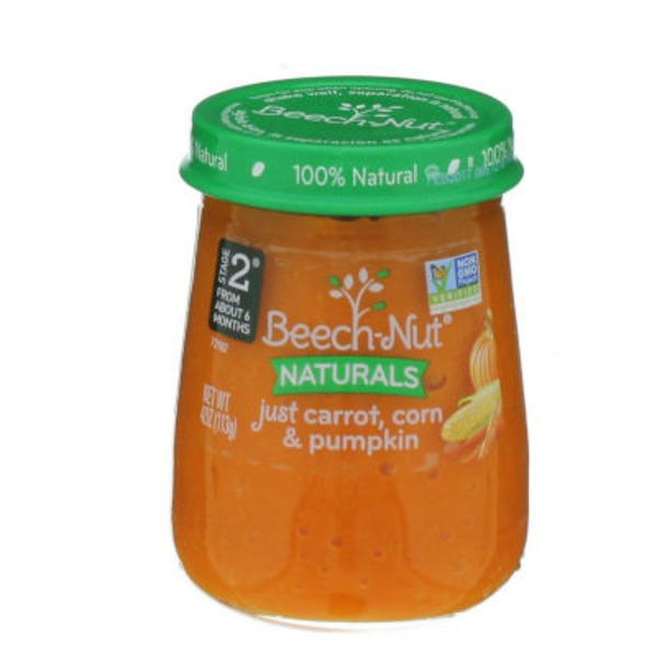Beech-Nut Naturals Just Carrot, Corn & Pumpkin Stage 2