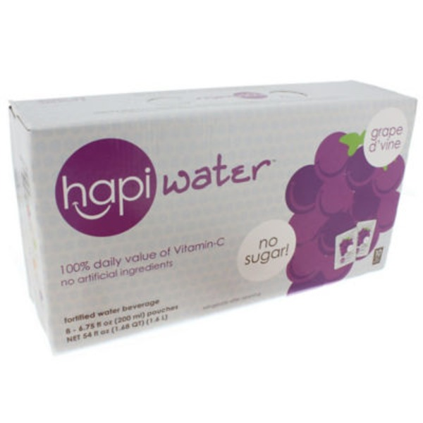 Hapi Water Grape D'vine Fortified Water