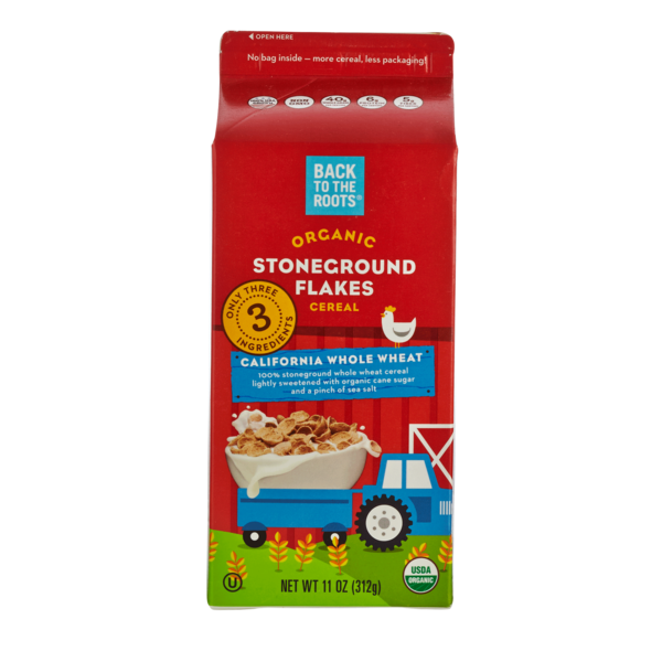 Back To The Roots Organic Whole Wheat Stoneground Flakes Cereal