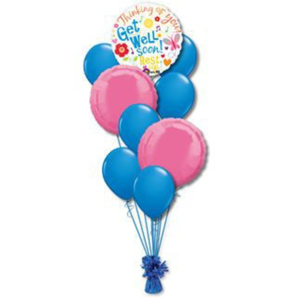 Get Well Medium Balloon Bouquet