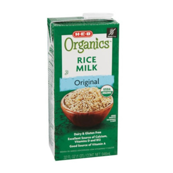 H-E-B Original Organics Rice Milk