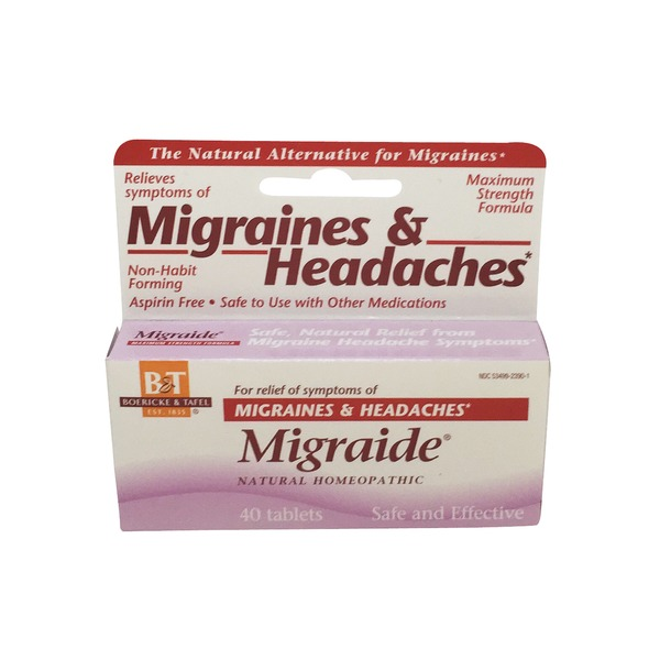 Boericke & Tafel Migraide Homeopathic Tablets for Migraines & Headaches