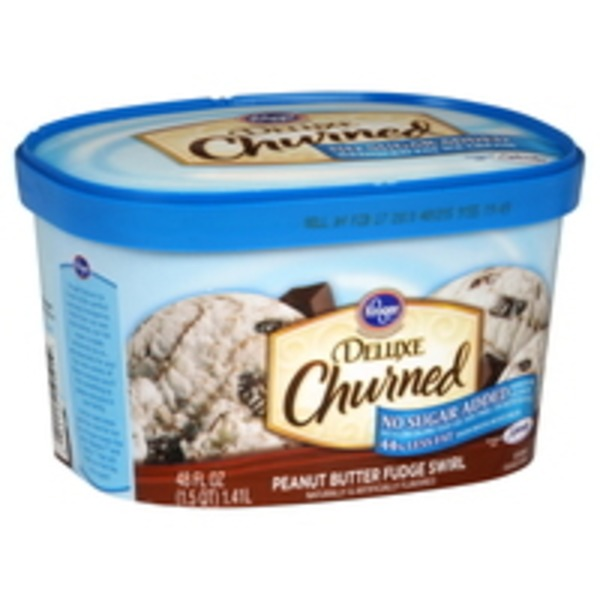 Kroger Deluxe Ice Cream No Sugar Added Peanut Butter Fudge Swirl
