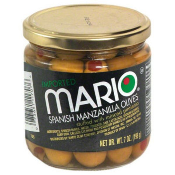 Mario Spanish Manzanilla Olives Stuffed With Minced Pimiento