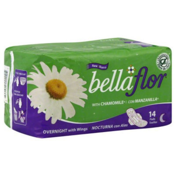 Bella Flore Overnight Pads with Wings