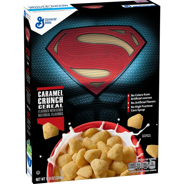 Superman Caramel Crunch Cereal