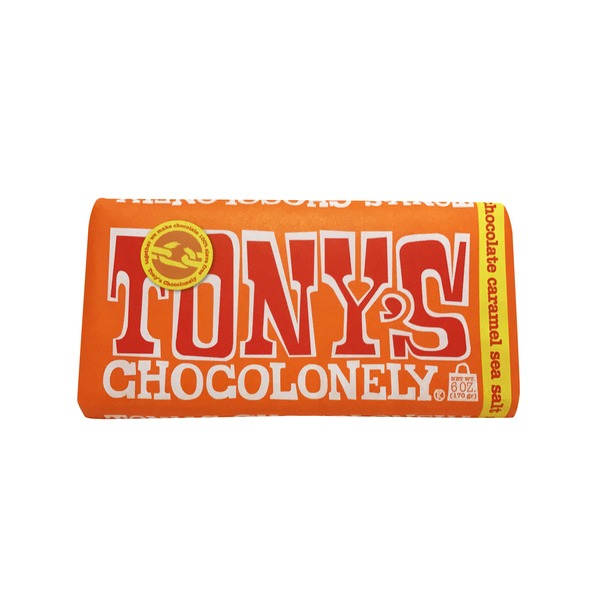 Tonys Chocoloney Milk Chocolate Caramel Sea Salt Bar