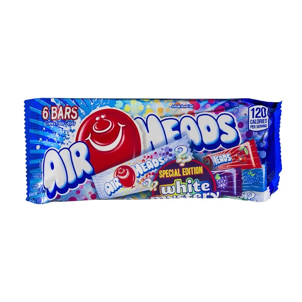 AirHeads Special Edition Chewy Fruit Candy Bars White Mystery