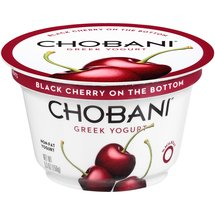Chobani Greek Yogurt Black Cherry on the Bottom Non-Fat Yogurt