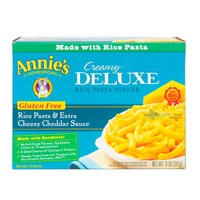 Annie's Homegrown Gluten Free Rice Pasta & Extra Cheesy Cheddar Sauce Mac & Cheese Creamy Deluxe Mac & Cheese