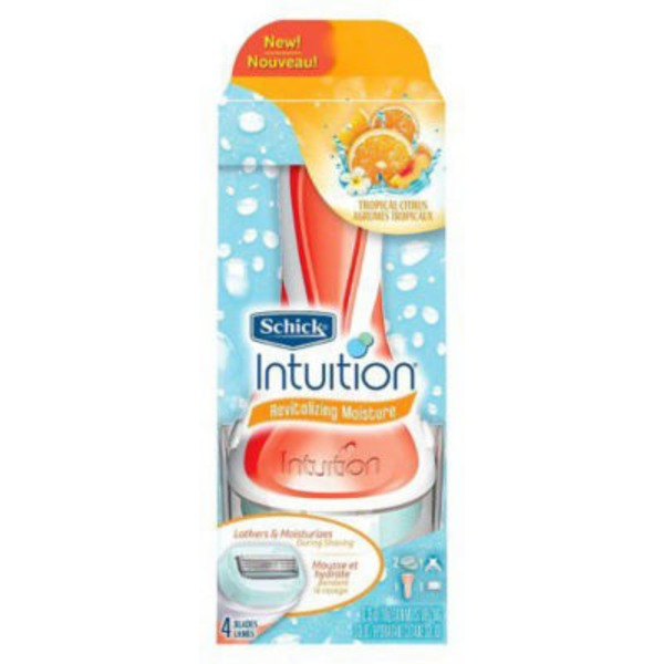 Schick Intuition Revitalizing Moisture Tropical Citrus Razor Kit