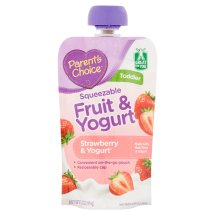 Parent's Choice Baby Food, Stage 4, Strawberry & Yogurt, 3.5oz Pouch