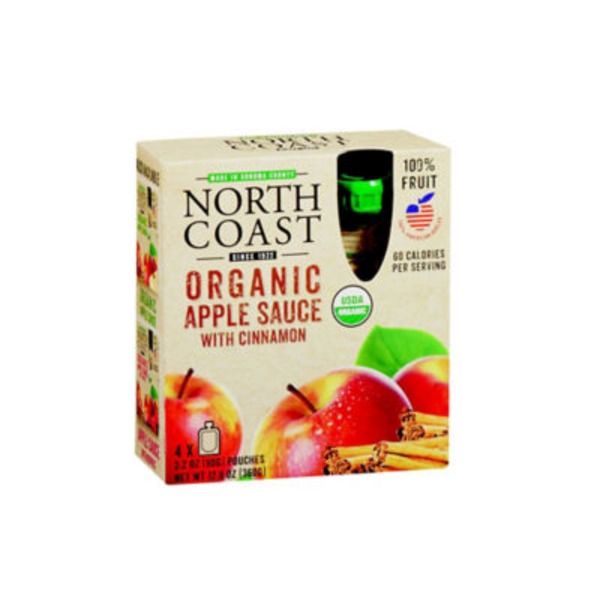 North Coast Apple Sauce With Cinnamon Pouches