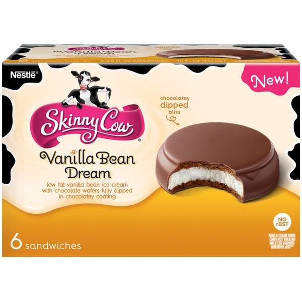 Skinny Cow Vanilla Bean Dream Ice Cream Sandwiches