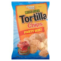 Great Value Bite Size Tortilla Chips Party Size, 32 oz
