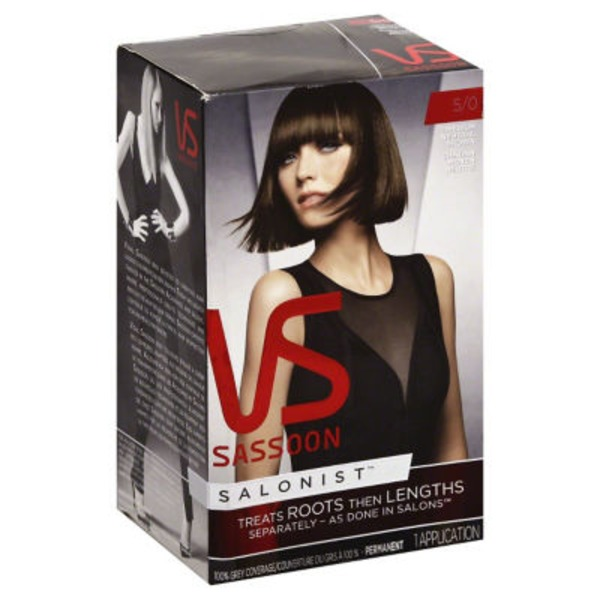 Vidal Sassoon Salonist Permanent 5/0 Medium Neutral Brown Hair Colour