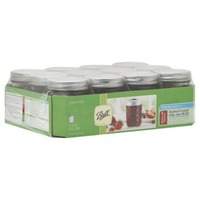 Ball Freezer Safe Quilted Crystal Jelly Jars Regular Mouth 8 OZ - 12 CT