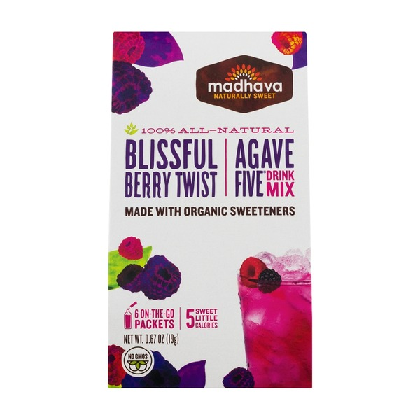 Madhava Agave Five Drink Mix Blissful Berry Twist - 6 PK