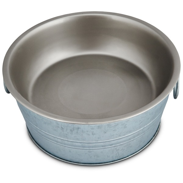 Harmony Galvanized Dog Bowl Large