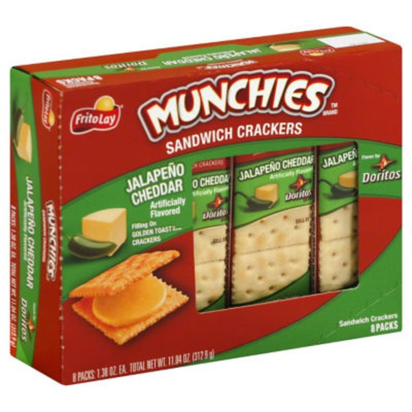 Munchies Jalapeno Cheddar Sandwich Crackers