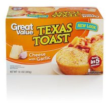 Great Value Texas Cheese w/Garlic Toast, 8 ct