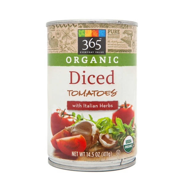 365 Organic Diced Tomatoes with Italian Herbs