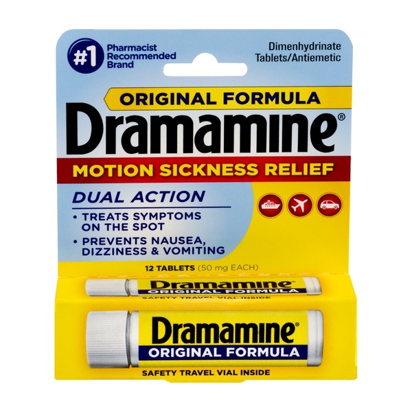Dramamine Original Formula Motion Sickness Relief Tablets - 12 CT