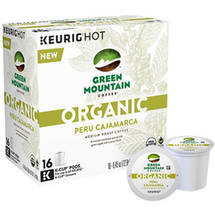 Green Mountain Coffee Organic Peru Cajamarca Medium Roast Coffee K-Cup Pods