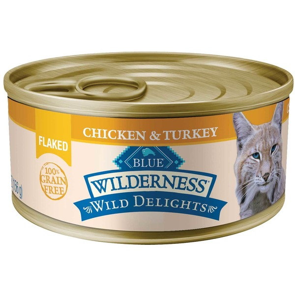 Blue Buffalo Food For Cats, Natural, Flaked, Chicken & Turkey
