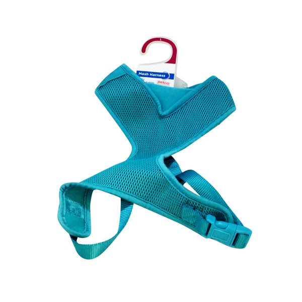 Petco Adjustable Mesh Harness For Dogs In Teal