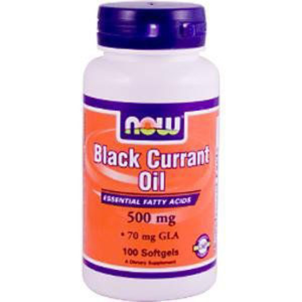 Now Black Currant Oil 500 Mg Softgels