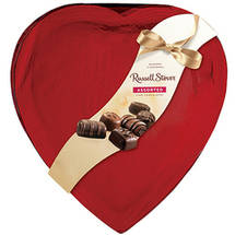 Russell Stover Assorted Fine Chocolates Red Foil Heart