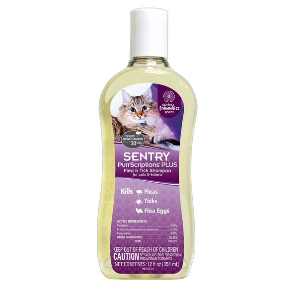 Sentry Pro PurrScriptions Plus Flea & Tick Shampoo For Cats & Kittens